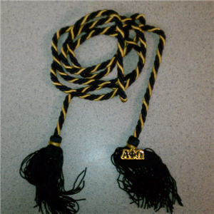 Navy blue and gold graduation cord