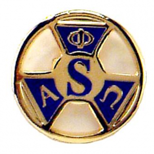 Blue and Gold life member pin