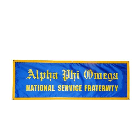 21c0e60ee84 Nylon Banner - Alpha Phi Omega