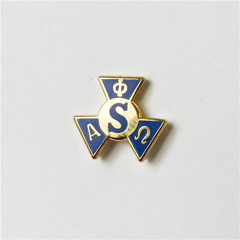 Blue and gold colored service pin