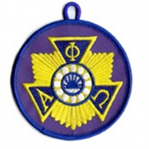 Blue patch with pin emblem