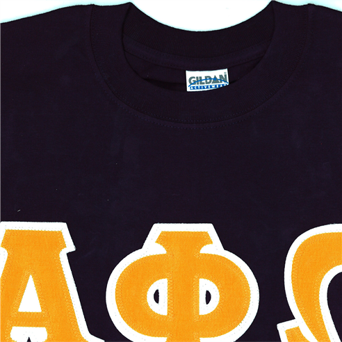 Navy Blue t-shirt with Gold letters