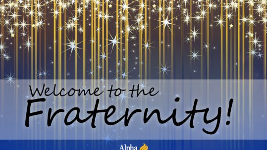 Welcome to the Fraternity
