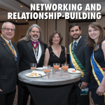 group of brothers at networking event