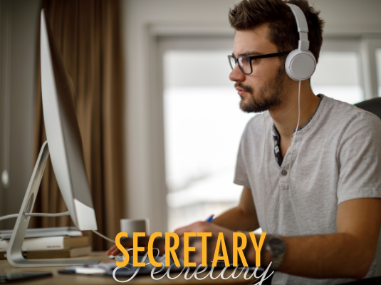 Click image to view secretary resources