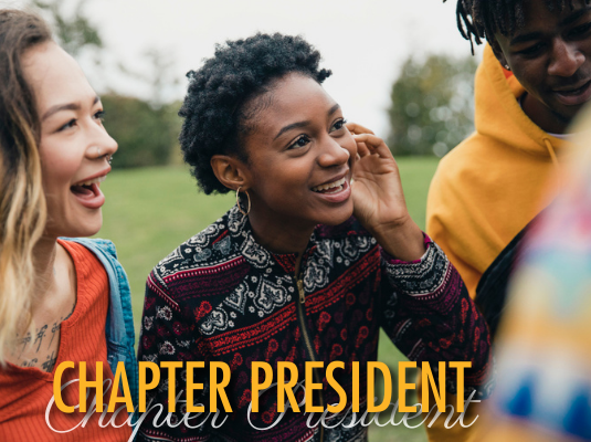 Click this image to learn more about the role of chapter president.