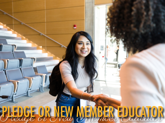 Click image of pledge or new member educator to learn more about role.