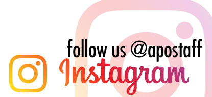 follow @apostaff on instagram